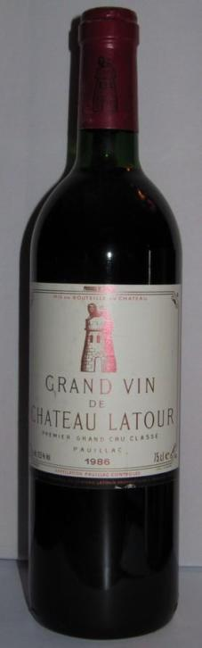 Bordeaux 1986 Chateau Latour top! (Spirits,Wijn,Whisky-Wijn)