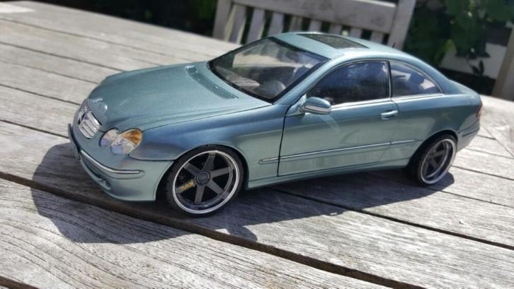 "Mercedes CLK groen coupe Kyosho Tuning 19"" Rays velg"