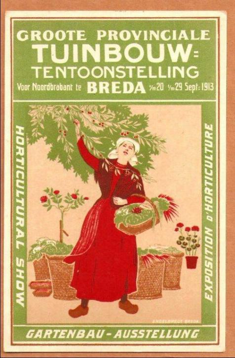 Reclame Breda Groote Prov. Tuinbouwtent. 20 - 29 sept. 1913
