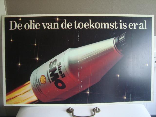 Oude retro reclame Shell / olie