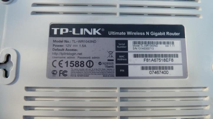 router TP link TL WR1043 ND