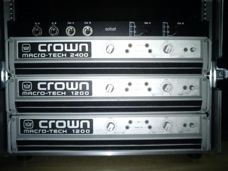 Crown Macrotech versterkers