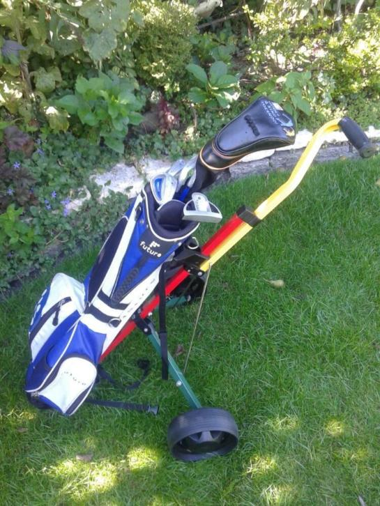 Future junior jongens golfset 5-10 jr met trolley.