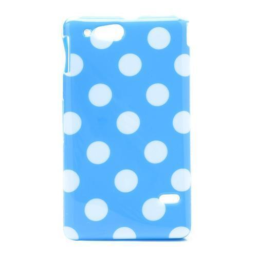 Dots Soft Silicone hoesje voor Sony Xperia Go ST27i blauw