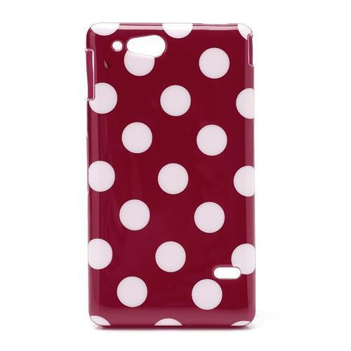Dots Soft Silicone hoesje voor Sony Xperia Go ST27i rood