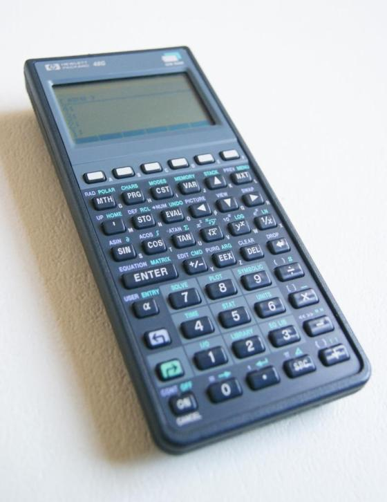 HP 48G Vintage Hewlett Packard calculator Rekenmachine