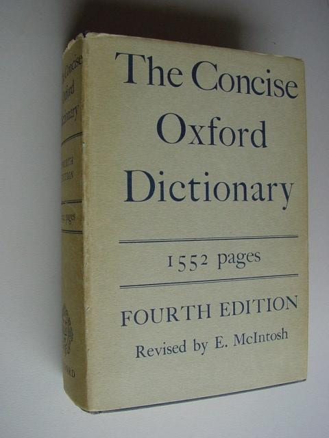 The Concise Oxford Dictionary of Current English, 1552 pages
