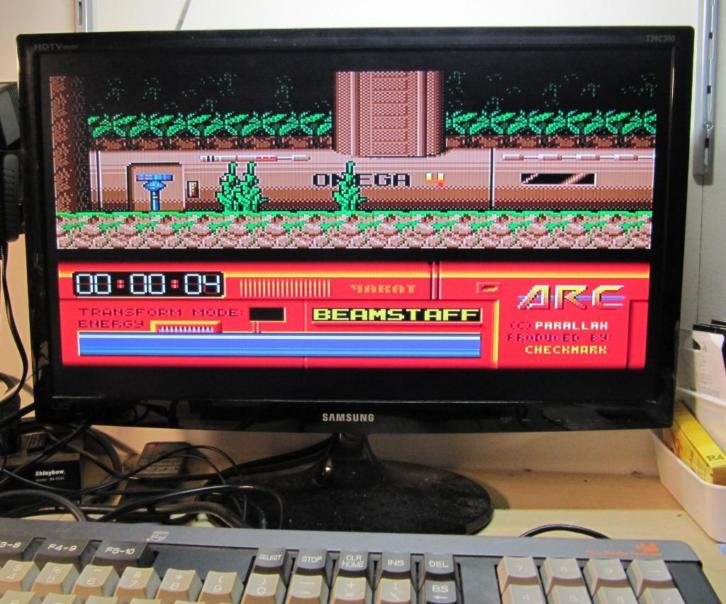 Msx 2 Spel / Game & Cartridge Parallax - ARC ( Rare )