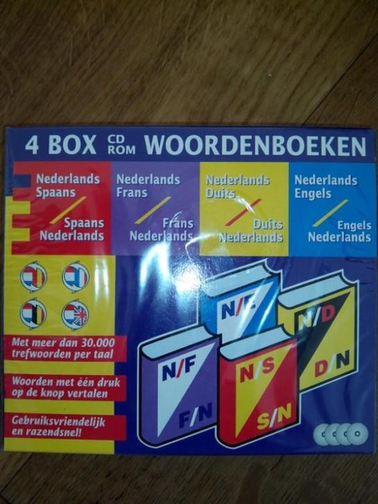 Woordenboek 4 talen cd box