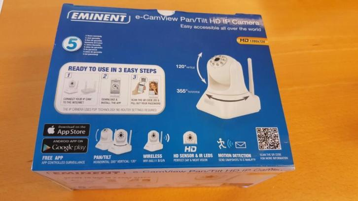ip camera eminent EM6225 via WiFi en app