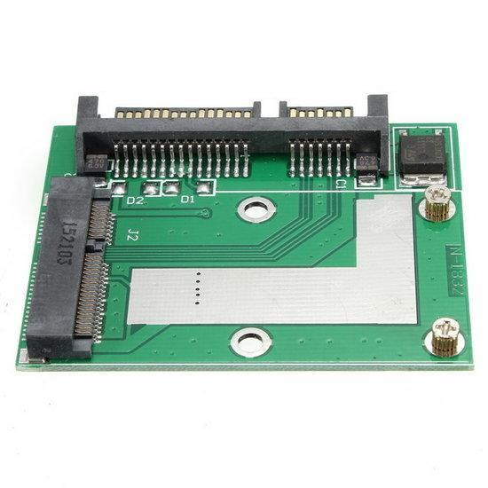 Mini PCI-E mSATA SSD to 2.5 Inch SATA III 6Gbps Adapter C...