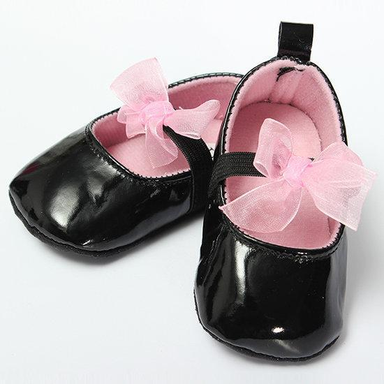 Toddler Soft Sole Girls Bowknot Lace Baby Dress Shoes