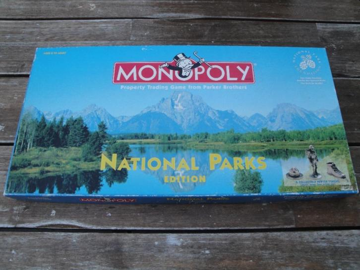 Monopoly National Parks edition USA
