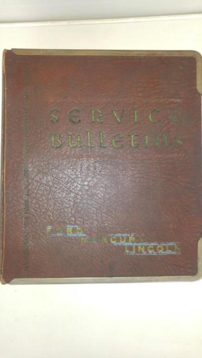 Service bulletins Ford Mercury Lincoln