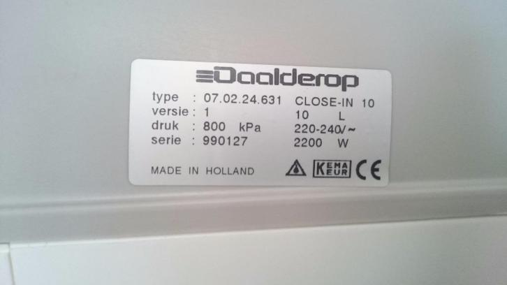 Boiler Daalderop close in 10