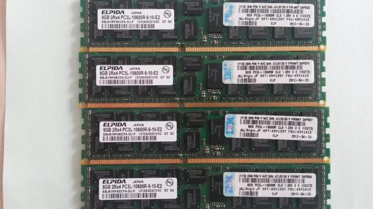 Ibm 8gb 2rx4 pc3-10600r memory fru 49y1415
