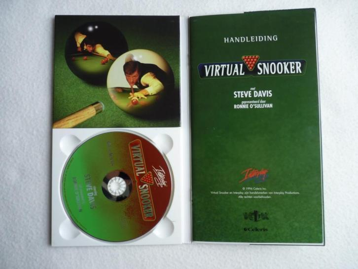 """Snooker"", PC CD-Rom-spel, echt biljartspel; incl. ned handl"