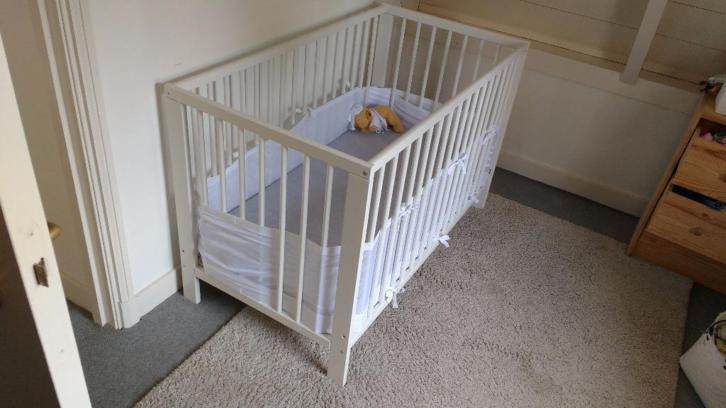 Ikea Gullver Crib & Mattress