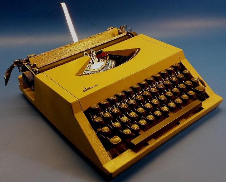 ABC portable schrijfmachine / typemachine