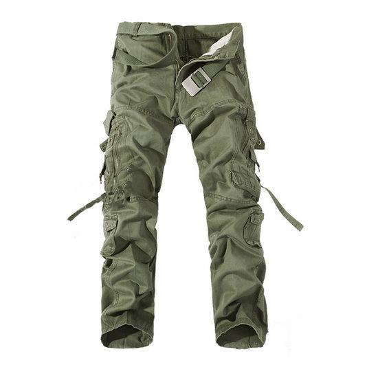 Mens Cargo Pants Multi Pockets Casual Cotton Pants Work O...