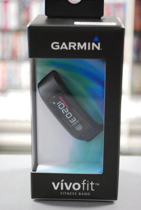 NIEUW IN DOOS: Garmin Vivofit Black met Large en Small band