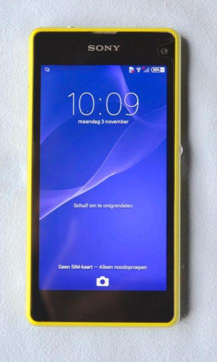 Sony Xperia Z1 Compact, 4G, Lime, perfecte staat, garantie