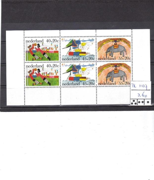 Nederland Bl 1107 MNH