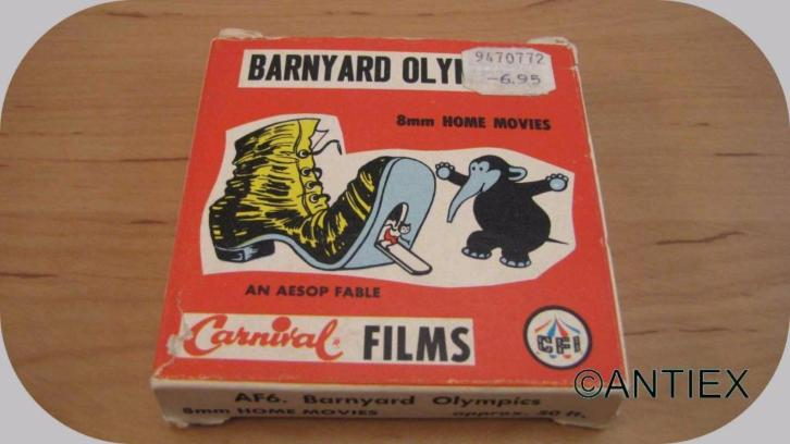 9910] 8 mm film -an aesop fable- breakyard olympics €10