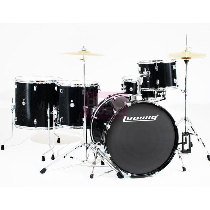 Ludwig LC17611 Accent Power Plus 5-delig drumstel Black Spa